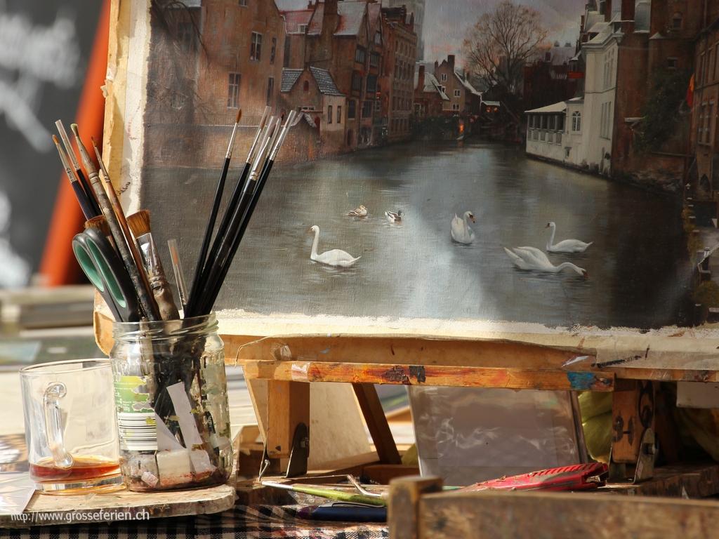 Belgium, Brugges, Painting
