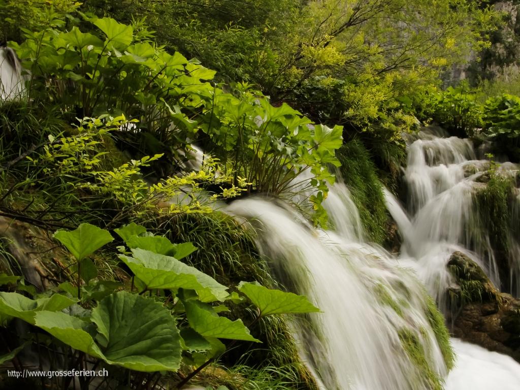 Croatia, Plitvice National Park, Waterfall