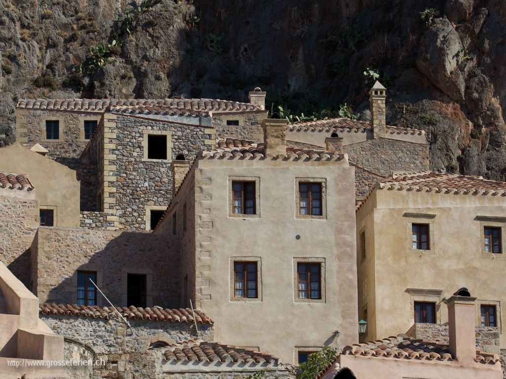 Greece, Monemvasia, Houses