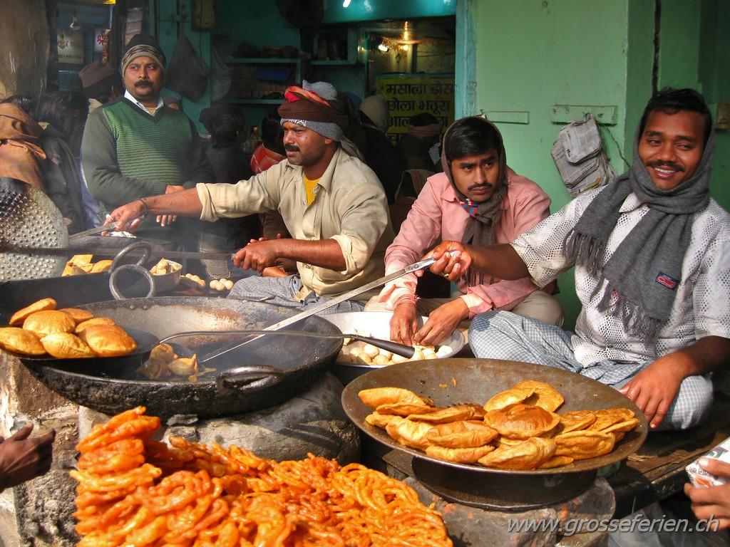 India, Varanasi, Food Stand