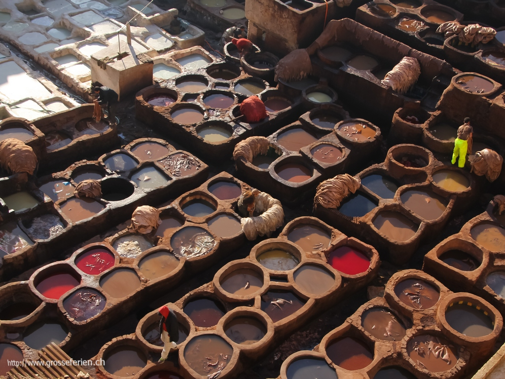 Morocco, Fes, Leather Color