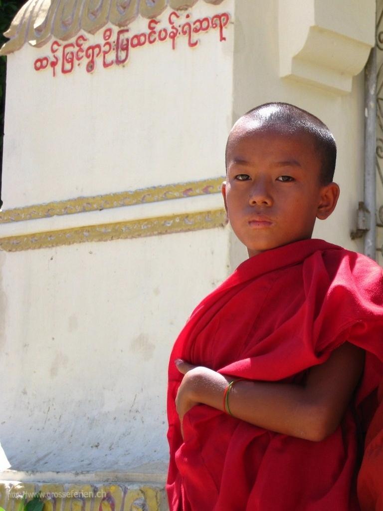Myanmar, Mingung, Monk