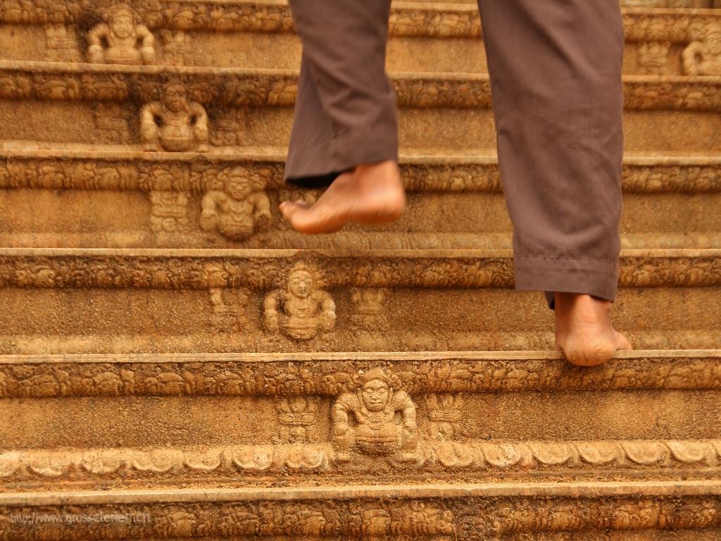 Sri Lanka, Anuradhapura, Stair