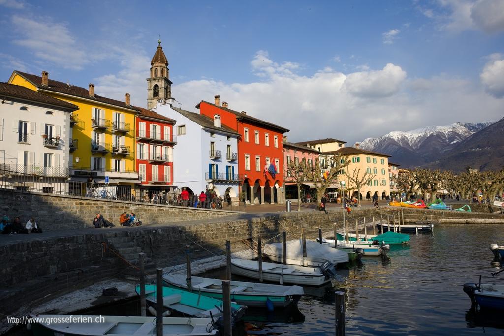 Switzerland, Ascona, Houses