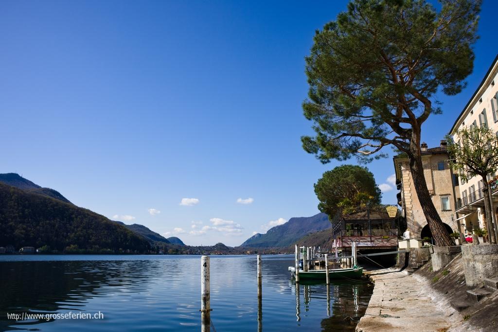 Switzerland, Morcote, Lake
