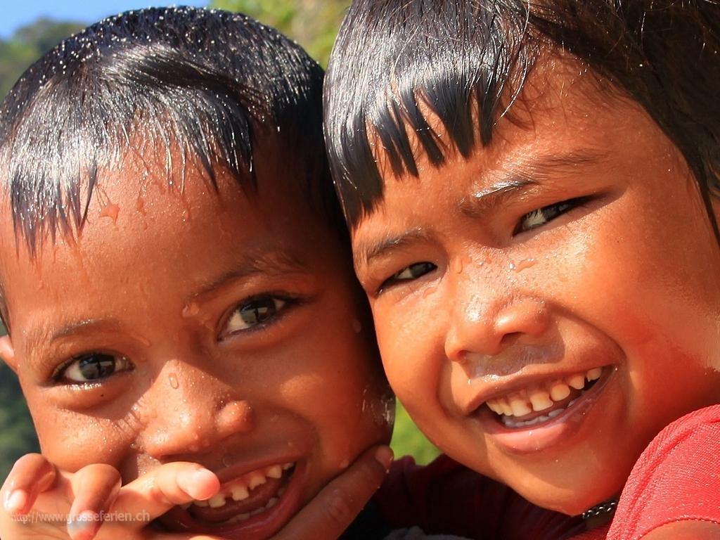 Thailand, Koh Surin, Children