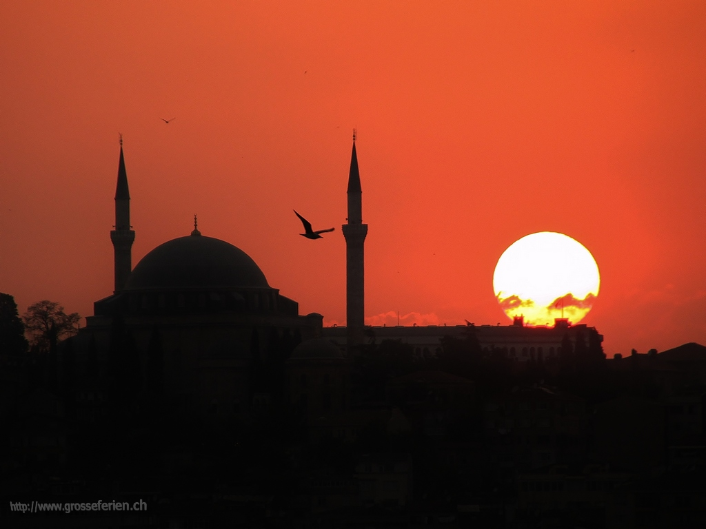 Turkey, Istanbul, Sunset