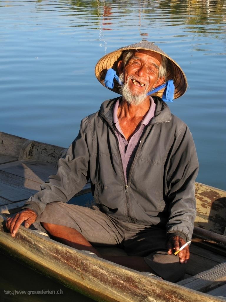 Old Man in Hoi An, Vietnam